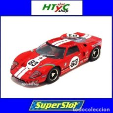 Slot Cars: SUPERSLOT FORD GT40 1969 RED #83 FITTIPALDI RACING SCALEXTRIC UK H4152. Lote 234760005