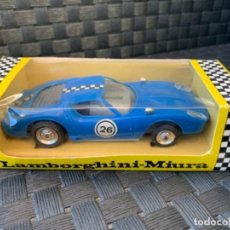 Slot Cars: POLY POLITOYS SLOT CAR MADE IN SPAIN LAMBORGHINI MIURA ESCALA 1/32. Lote 234897725