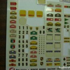 Slot Cars: SCALEXTRIC - NINCO. CALCAS ORIGINALES ( PLANCHAS INCOMPLETAS.). Lote 267160984