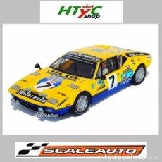 Slot Cars: SCALEAUTO DE TOMASO PANTERA GR3 #7 LE MANS 1975 BEURLYS INTER AUTO SC6035R. Lote 237157150