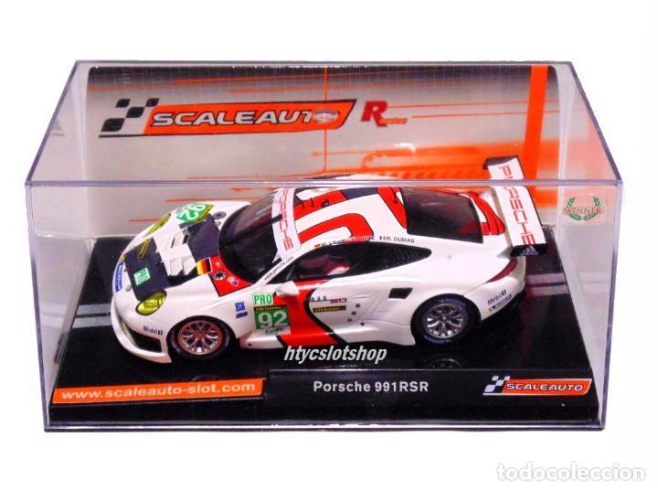 Slot Cars: SCALEAUTO PORSCHE 991 RSR #92 WINNER LE MANS 2013 LIEB / LIETZ / DUMAS SC6065R - Foto 12 - 237159120
