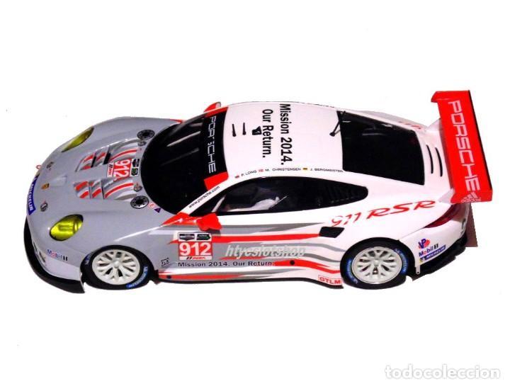 Slot Cars: SCALEAUTO PORSCHE 991 RSR #912 24 HS DAYTONA 2014 LONG / CHRISTENSEN / BERGMEISTER SC6140R - Foto 3 - 237160675