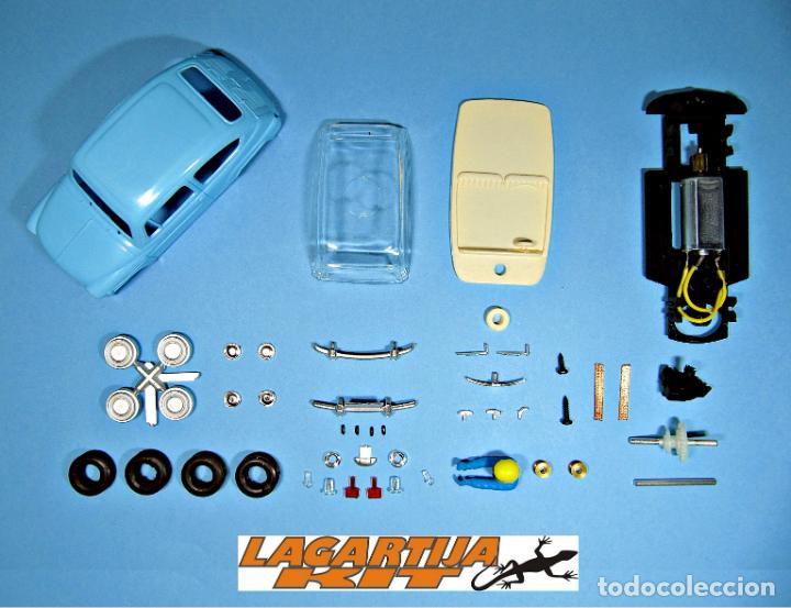 Slot Cars: SLOT 1/32 SEAT / FIAT 600 AZUL CLARO KIT PLASTICO COMPLETO CLASSIC SCALEXTRIC - Foto 2 - 229308595