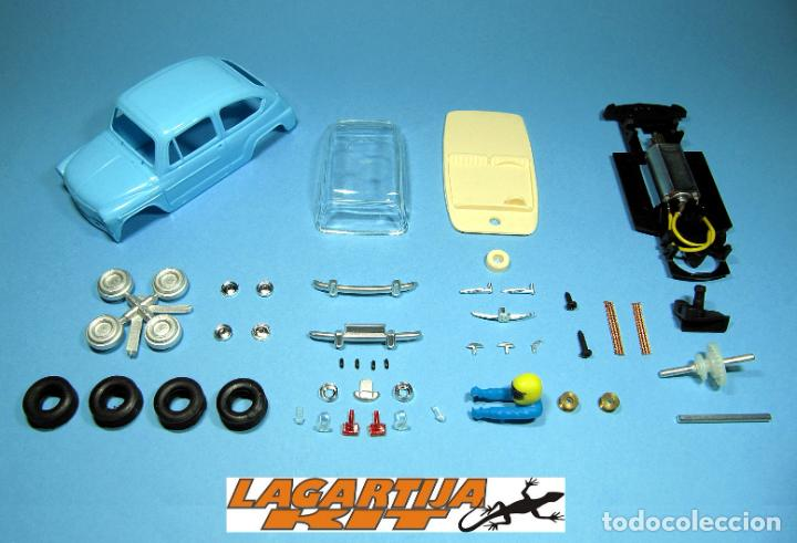 SLOT 1/32 SEAT / FIAT 600 AZUL CLARO KIT PLASTICO COMPLETO CLASSIC SCALEXTRIC (Juguetes - Slot Cars - Magic Cars y Otros)