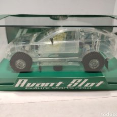 Slot Cars: AVANT SLOT MITSUBISHI LANCER RACING CLEAR CAR REF. 50799 COLECCIÓN DAKAR 2. Lote 241469395