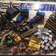 Slot Cars: LOTE CARROCERÍAS Y ACCESORIOS DE PISTA STS 4X4 - SCALEXTRIC EXIN - MADE IN SPAIN. Lote 241876055