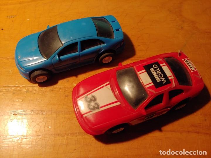 DOS COCHES DE PISTA ELECTRICOS NO PARA SCALEXTRIC MIRAR FOTOS (Juguetes - Slot Cars - Magic Cars y Otros)
