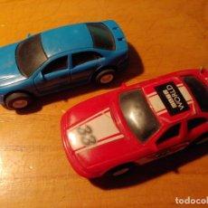 Slot Cars: DOS COCHES DE PISTA ELECTRICOS NO PARA SCALEXTRIC MIRAR FOTOS. Lote 241917215