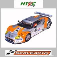 Slot Cars: SCALEAUTO SPYKER C8 SPYDER GT2R #86 LE MANS 2006 BLEEKEMOLEN / HEZEMANS / KANE SC6042. Lote 241973050