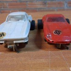Slot Cars: REVELL ESCALA 1/32 CHEVROLET CORVETTE Y FERRARI 250 GTO AÑOS 70 MADE IN USA. Lote 243905890