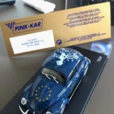 Slot Cars: VOLKSWAGEN EURO BEETLE 01.01.2002 DE PINK-KAR,. Lote 259237510