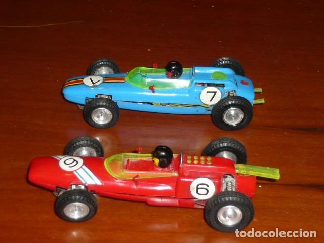Slot Cars: PAREJA COCHES SLOT AÑOS 60 FRANCE BOLIDE LOTUS Y PORSCHE - Foto 5 - 244511120