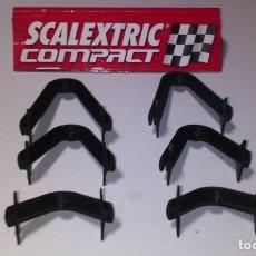 Slot Cars: SCALEXTRIC COMPACT ESCALA 1/43 JUEGO DE 6 SOPORTES PARA HACER PUENTES. Lote 244632575