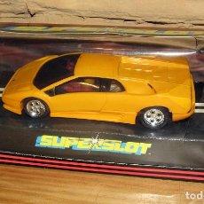 Slot Cars: SUPERSLOT - LAMBORGHINI DIABLO AMARILLO - REF C.045 - NUEVO A ESTRENAR. Lote 247728615