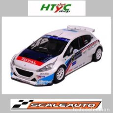 Slot Cars: SCALEAUTO PEUGEOT 208 T16 #2 WINNER RALLY IRC ACROPOLIS 2014 CRAIG / SCOTT SC6118R. Lote 248810215