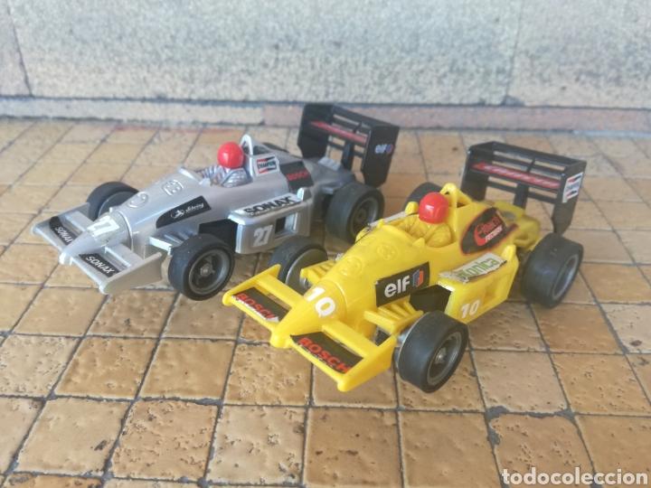 LOTE 2 COCHES DE FORMULA 1 MARCA CARRERA F1 - EN BUEN ESTADO TIPO SCALEXTRIC (Juguetes - Slot Cars - Magic Cars y Otros)