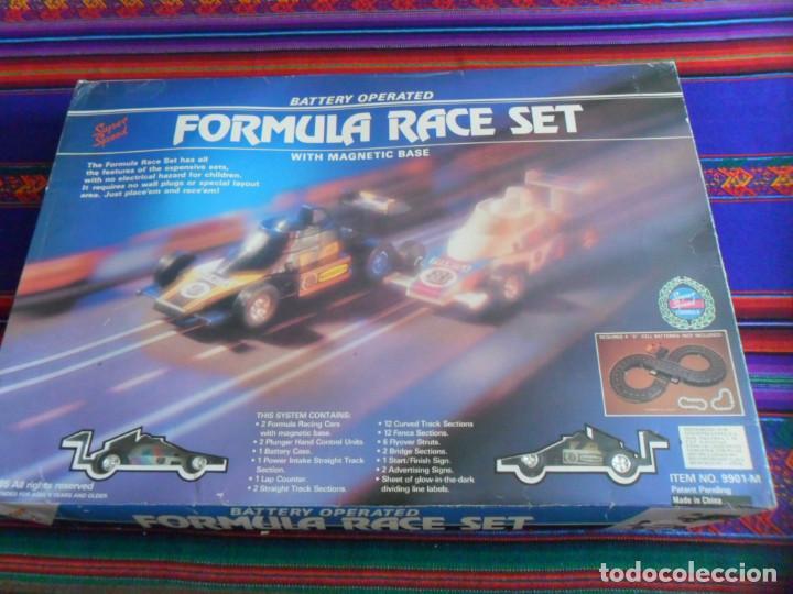 FORMULA RACE SET SUPER SPEED ITEM NO. 9901-M. SCALEXTRIC. AÑO 1985. MUY RARO. (Juguetes - Slot Cars - Magic Cars y Otros)