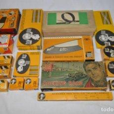 Slot Cars: LOTE SLOT JOUEF. FABRICADO EN FRANCIA Y ESPAÑA. AÑOS 60/70. ROMANJUGUETESYMAS.. Lote 254259485