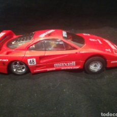 "Slot Cars: FERRARI F40 ENDURANCE ""MAXEL""48 FABRICADO POR HORNBY ENGLAND. Lote 254706095"