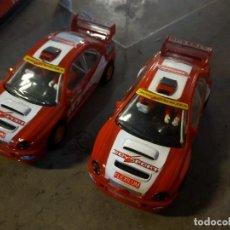 Slot Cars: LOTE 2 ANTIGUOS COCHES DE SLOT SCALEXTRIC SCX SUBARU IMPREZA WRX STI WRC - OPENSLOT. Lote 256081570