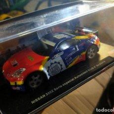 Slot Cars: ANTIGUO COCHE POWER SLOT NISSAN 350Z RALLY SERIE ESPECIAL AUTOMÓVIL CLUB D'ANDORRA SCALEXTRIC SCX. Lote 257553840