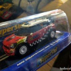 Slot Cars: ANTIGUO COCHE SLOT SCALEXTRIC SCX SUPERSLOT MINI COUNTRYMAN WRC. Lote 257554510