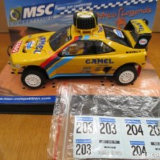 Slot Cars: MSC COMPETITION PEUGEOT 405 GRAND RAID DAKAR COLECCION AFRICA LEGENDS CON PEGATINAS. Lote 261596760