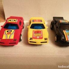 Slot Cars: 3 COCHES RACING TURBO TIPO SCALEXTRIC EN BUEN ESTADO VER FOTOS. Lote 261926020
