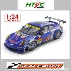 Slot Cars: SCALEAUTO PORSCHE 911 GT3 RSR #25 SUPER GT 2011 ZENT TSUCHIYA / TSUZUKI SC-7049HS. Lote 264847809