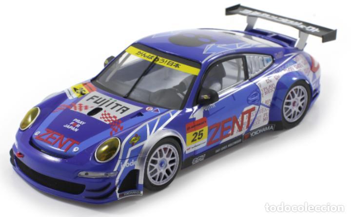 Slot Cars: SCALEAUTO PORSCHE 911 GT3 RSR #25 SUPER GT 2011 ZENT TSUCHIYA / TSUZUKI SC-7049HS - Foto 2 - 264847809