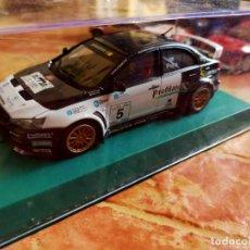 Slot Cars: ANTIGUO COCHE DE RALLY SLOT MITSUBISHI LANCER WRC - AVANT SLOT - SCALEXTRIC SCX. Lote 267329894
