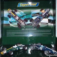 Slot Cars: SCALEXTRIC H2923A SET LOTUS VS EAGLE 1967 SUPERSLOT 1/32 SLOT NUEVO. Lote 267512969