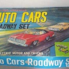 Slot Cars: AUTO CARS ROADWAY SET. AÑOS 60 MUY RARO. COCHES MERCEDES.. Lote 267814699