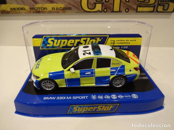 SUPERSLOT. BMW 330 M-SPORT. ED. POLICIA. REF. H4165 (Juguetes - Slot Cars - Magic Cars y Otros)