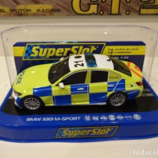 Slot Cars: SUPERSLOT. BMW 330 M-SPORT. ED. POLICIA. REF. H4165. Lote 268572789