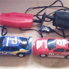 Slot Cars: DOS COCHES : DESPERADO II Y MIDNIGHT Y DOS MANDOS SPEEDTRAX CONTROLLER. Lote 269802403
