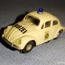 Slot Cars: PRECIOSO Y DIFICIL COCHE FALLER WOLKSWAGEN BEETLE POLICIA A/FX SLOT ESCALA H0 AÑOS 60/70. Lote 271151453