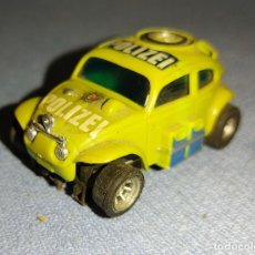 Slot Cars: PRECIOSO Y DIFICIL COCHE WOLKSWAGEN BEETLE A/FX SLOT AURORA ESCALA H0 AÑOS 70. Lote 271255398