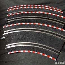 Slot Cars: SCALEXTRIC COMPACT ESCALA 1/43 JUEGO COMPLETO CURVA ESTERIOR 4 TRAMOS 180º. Lote 275332113
