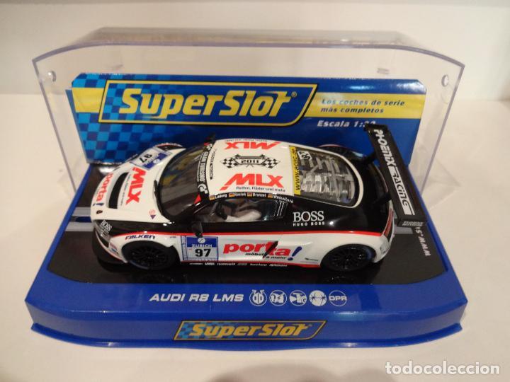 SUPERSLOT. AUDI R8 LMS. RANGE PRESENTATION 2011. REF. H3236 (Juguetes - Slot Cars - Magic Cars y Otros)