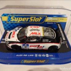 Slot Cars: SUPERSLOT. AUDI R8 LMS. RANGE PRESENTATION 2011. REF. H3236. Lote 276948038