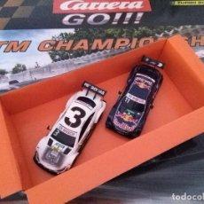 Slot Cars: SLOT CARS COCHE CARRERA GO DTM CHAMPIONSHIP BMW M4 DTM MERCEDES AMG C 63 DTM NUEVOS DOS.. Lote 277741493