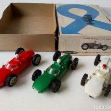 Slot Cars: 3 COOPER ROJO VERDE BLANCO STROMBECKER CAJA USA. Lote 278705573
