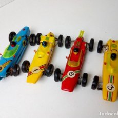 Slot Cars: 2 FRANCE BOLIDES (FRANCE JOUETS) Y 2 MINIAMIL (JOMA).. Lote 278753583