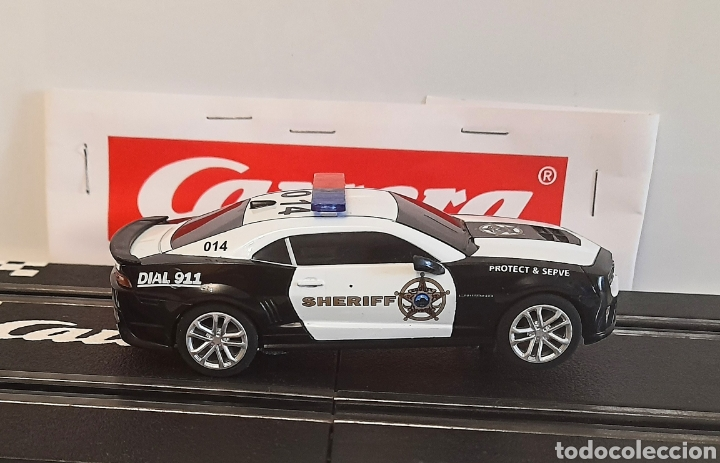 Slot Cars: CARRERA GO !!! - CHEVROLET CAMARO ZL1 -SHERIFF--CON LUCES -PISTAS 1/43 - Foto 3 - 284280193