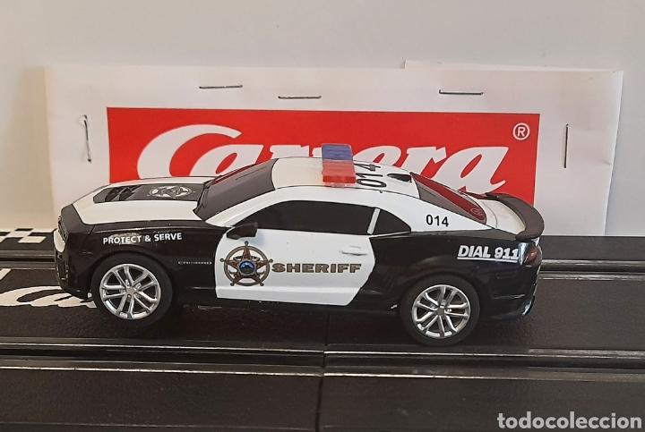 Slot Cars: CARRERA GO !!! - CHEVROLET CAMARO ZL1 -SHERIFF--CON LUCES -PISTAS 1/43 - Foto 6 - 284280193