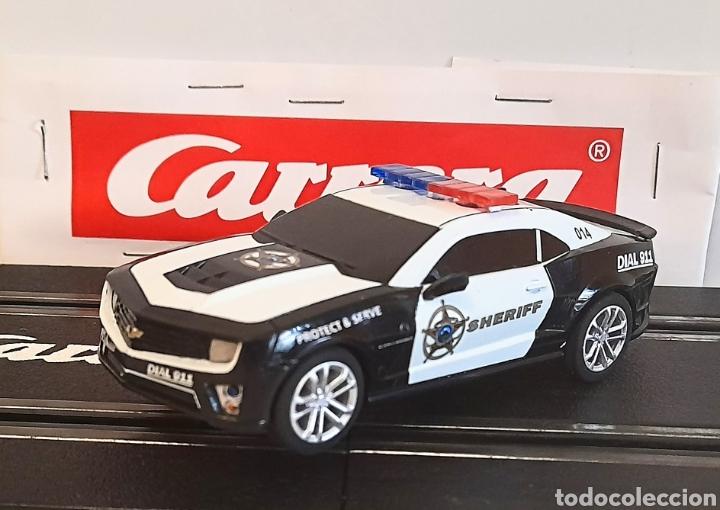 Slot Cars: CARRERA GO !!! - CHEVROLET CAMARO ZL1 -SHERIFF--CON LUCES -PISTAS 1/43 - Foto 9 - 284280193