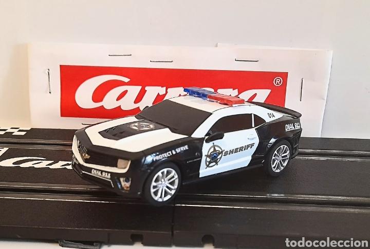 CARRERA GO !!! - CHEVROLET CAMARO ZL1 -SHERIFF--CON LUCES -PISTAS 1/43 (Juguetes - Slot Cars - Magic Cars y Otros)