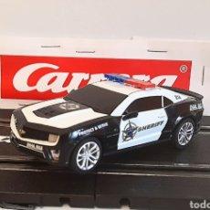Slot Cars: CARRERA GO !!! - CHEVROLET CAMARO ZL1 -SHERIFF--CON LUCES -PISTAS 1/43. Lote 284280193