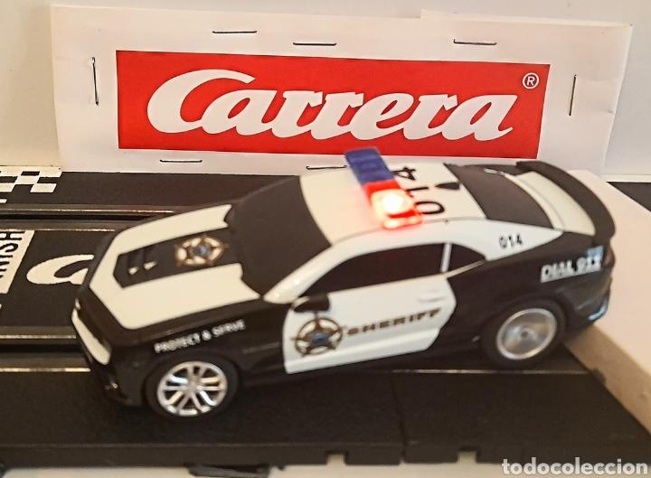 Slot Cars: CARRERA GO !!! - CHEVROLET CAMARO ZL1 -SHERIFF--CON LUCES -PISTAS 1/43 - Foto 10 - 284280193